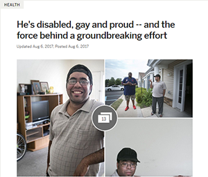 NJ.com - He's disabled, gay and proud -- and the force behind a groundbreaking effort
